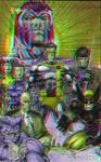 X-Men by Jim Lee in 3D Anaglyph by xmancyclops