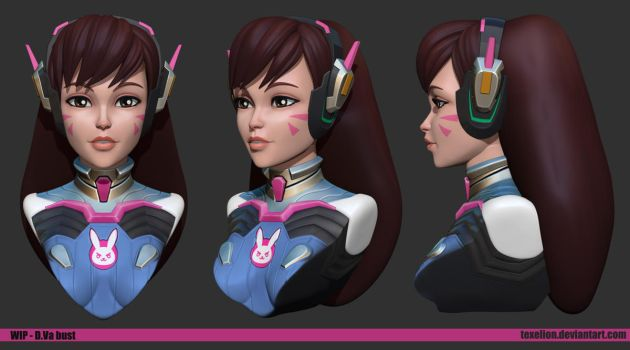 Dva bust Wip01 by Texelion