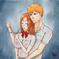 IchiHime Week_Day 3_Rain by Verano-Rin