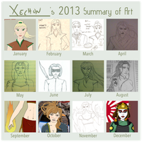 Xechon's 2013 Summary of Art by xechon