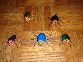 Chainmaille Beetles by montanaflash23