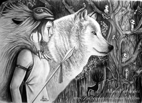 Mononoke Princess by ochopanteras