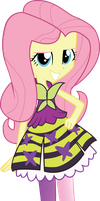 Fluttershy the Rainbow Rocks girl by Hoodie-Stalker