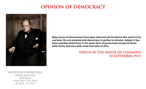 Winston Churchill - opinion of democracy by YamaLama1986