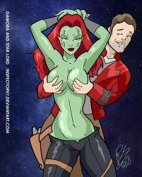 Gamora and Starlord by Inspector97