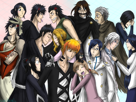 Shinigami-Quincy family by HezuNeutral
