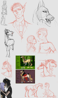 Sketchdump vol 2 by Ecliptic-Kase