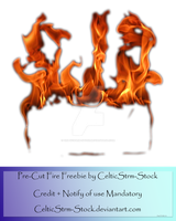 Fire Precut by CelticStrm-Stock by CelticStrm-Stock