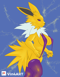 Jolteon Wins! by Vin4ART