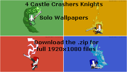 Castle Crashers - Solo Knights by LuckRunsOut