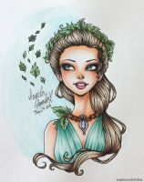 Leaf Queen by angelaaasketches