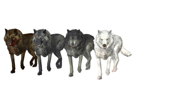 TW3 Wolves pack mmd xps by Tokami-Fuko