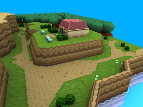 Link to the Past in 3D, angle2 by Kusanagi64