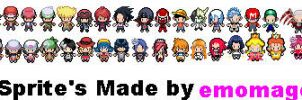 All my made sprites BW Style Project by emomage101