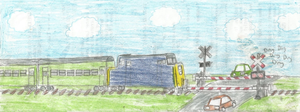 Basic Railroad Crossing by WillM3luvTrains