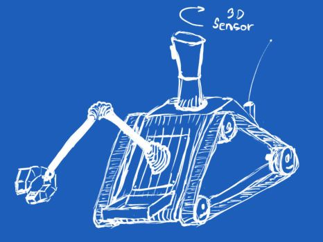 remote groud robot sketch by crys-a-drak