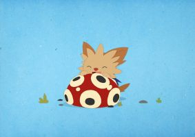 Paper Pokemon - Lillipup Puppy Teething