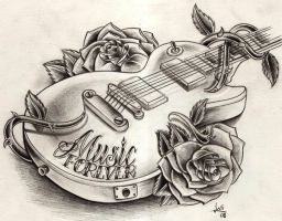 guitar sketch by WillemXSM