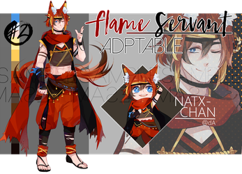 [CLOSED] Flame Servant ADOPTABLE by Natx-chan
