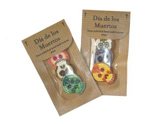 Day of the Dead buttons by ladyface
