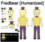 Fredbear (Humanized) reference drawing by MarcosVargas