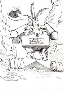Wile E Coyote by Ditch-scrawls