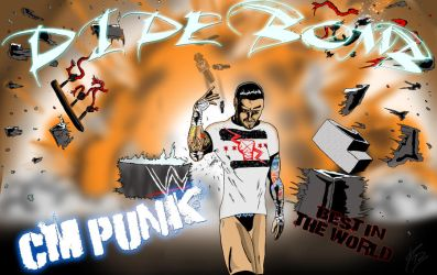 CM Punk Pipe Bomb by Conceptsart608