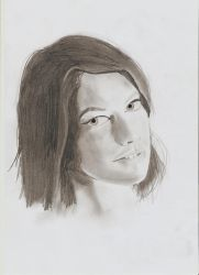Lauren Cohan pencil portrait by HUGOILL