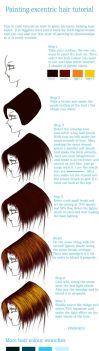 Painting hair tutorial by Teodora-Chinde