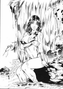 Wonder Woman - Commission Ink #2 by CaioMarcus-ART