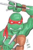 TMNT Raphael sketch by mayorlight