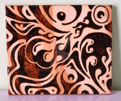 Woodburned Doodle by Morfland