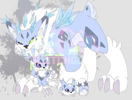 [c] Icy-cold Lynx Digimon by glitchgoat