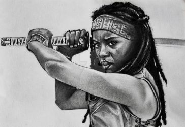 The Walking Dead - Michonne by McGrafite