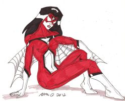 Spider-Woman- Jessica Drew by RobertMacQuarrie1