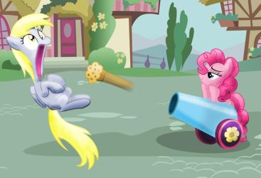 Muffin cannon. by GrimmCheater