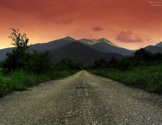 Road to the Sunset Mountain II by FLixter
