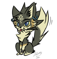 Wolf Link Twilight Princess by moondaneka