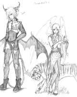 Yunki and Icarus concepts by ShadowOfDarkness22