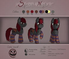Spiral Night OC Sheet by Wave-Realm