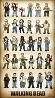 The Walking Dead Squishies by CitizenWolfie
