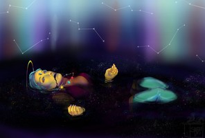 Ophelia Drowned in Space by squidlydes