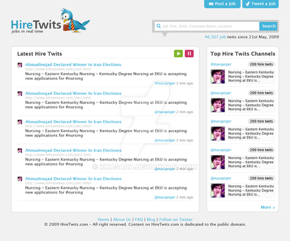 HireTwits Web 2.0 Layout by xmasada