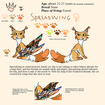 Spreadwing // 2018 Character Reference by KarinaFox