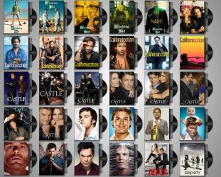 DVD Folder Icons for TV Shows Set#1 by Drac-69