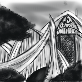 Manor House of my protagonist's family sketch. by leo-darkheart