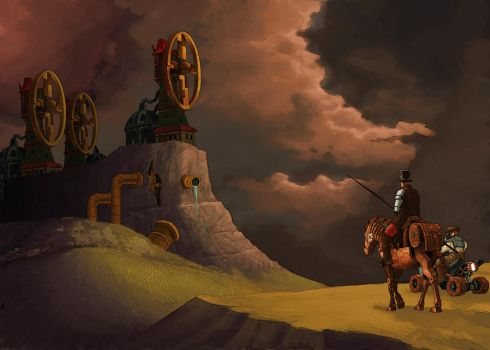 SciFi Steampunk Don-Quijote by solterbeck65