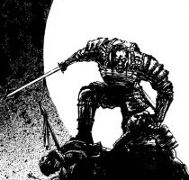 Swordsman Detail by mikemorrocco