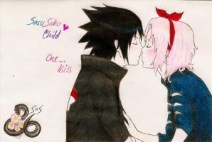 SasuSaku Child-One...Kiss by lien-san
