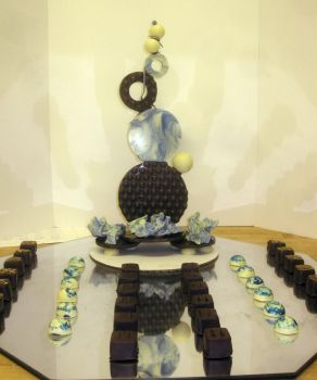 Chocolate Showpiece and Candy platter by recycledrapunzel